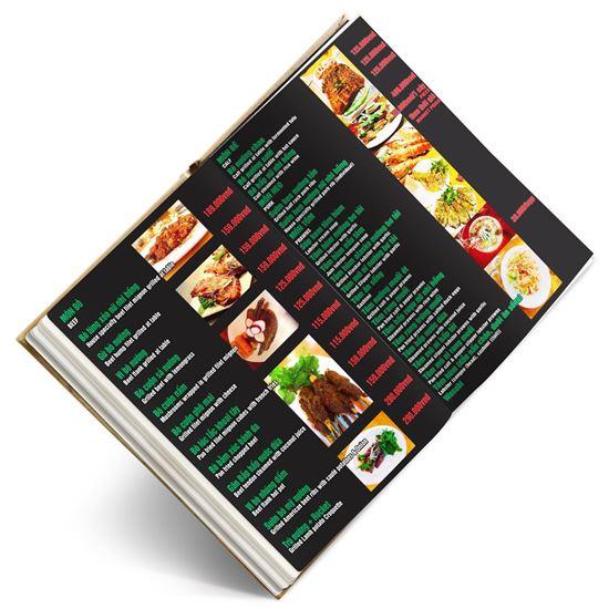 in menu tờ